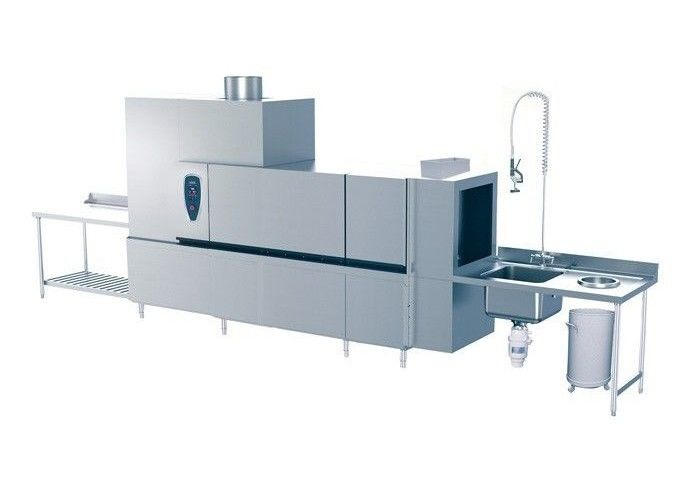 Commercial Kitchen Equipments Rack Conveyor Dish Washer Capacity 300 Basket Per Hour